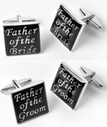 Father Of The Bride And Groom Cufflink Sets 2 Pair 1 Each W Personalized Case