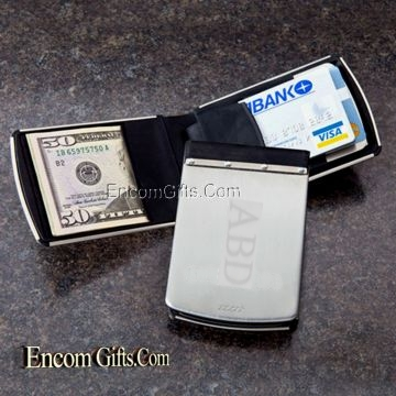 Personalized ZIPPO STAINLESS STEEL WALLET RFID BLOCKING Credit Card ANTI Theft