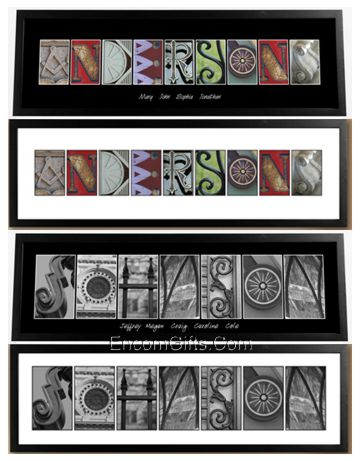 Alphabet Art Print Personalized Architectural Letter Name